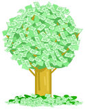 Money notes tree vector Royalty Free Stock Images