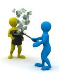 Money from nowhere. magic Stock Image