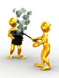 Money from nowhere. magic Royalty Free Stock Photos