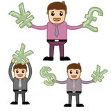 Money - Office and Business People Cartoon Character Vector Illustration Concept Royalty Free Stock Image