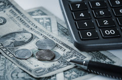 Money and office supply Stock Photo