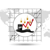 Money oil industry growth diagram background. Vector illustration eps 10 Royalty Free Stock Photo