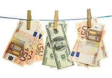 Money On A Rope Royalty Free Stock Image