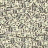 Money - one hundred dollar bill. One hundred dollar bill - us currency Royalty Free Stock Image