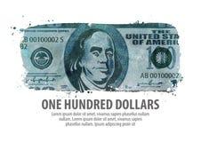 Money. one hundred dollars. vector illustration Stock Photos
