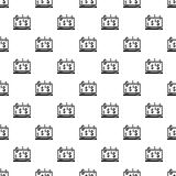 Money online on computer pattern, simple style Stock Photos