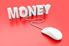 Money. Online. 3D rendered Illustration. Isolated on white vector illustration