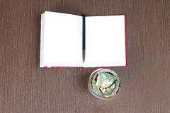 Money open book Royalty Free Stock Image