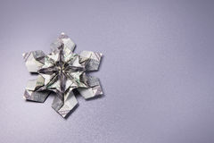 Money Origami snowflake. Snowflake origami made of banknotes dollar Handmade Stock Images