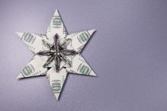 Money Origami snowflake Royalty Free Stock Photos