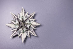 Money Origami snowflake Royalty Free Stock Photo