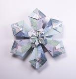 Money Origami snowflake. Snowflake origami made of banknotes rubles. Handmade Royalty Free Stock Photos