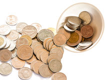 Money out of the cup Royalty Free Stock Image