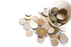 Money out of the cup Royalty Free Stock Photography