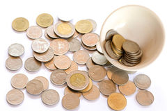 Money out of the cup Stock Images