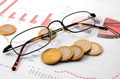 Money over business chart shows success Stock Photography