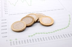Money over business chart shows success Stock Photo