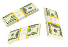 Money packs set Stock Photography