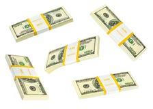 Money packs set Royalty Free Stock Photography