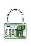 Money padlock Royalty Free Stock Photo