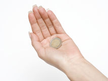 Money in the Palm Royalty Free Stock Photos