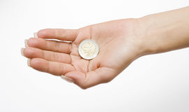 Money in the Palm Stock Image