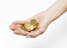 Money in the Palm Stock Images