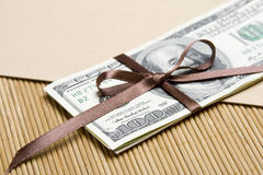Money parcel Royalty Free Stock Photography
