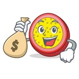 With money passion fruit character cartoon. Vector illustration Royalty Free Stock Image