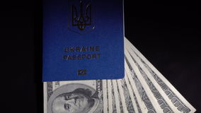 Money and passport on the table