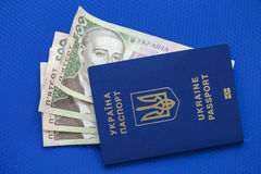 Money, passport, travel to any country Royalty Free Stock Photo