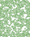 Money pattern. Money background from dollars Royalty Free Stock Photo