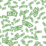Money patterns seamless, money background from dollar Stock Image