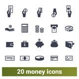 Money Payment And Financial Business Icons Set stock illustration