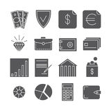 Money payments finance vector icons isolated on white. Payment finance illustration Royalty Free Stock Image