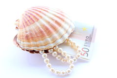 Money from pearls Royalty Free Stock Photo