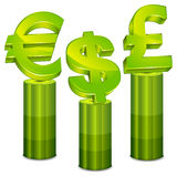 Money pedestal Stock Image