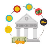 Money pension fund Stock Photography