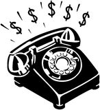 Money Phone Royalty Free Stock Photography