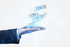 Money And Phone Stock Images