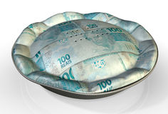 Money Pie Brazilian Real Stock Photos
