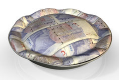 Money Pie British Pound Stock Photography