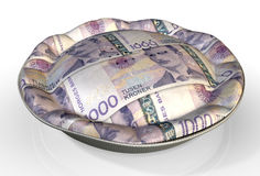 Money Pie Norwegian Kronor Royalty Free Stock Photos