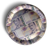 Money Pie Norwegian Kronor Royalty Free Stock Image