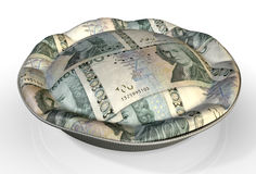 Money Pie Swedish Kronor Royalty Free Stock Photos