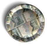 Money Pie Swedish Kronor Royalty Free Stock Images