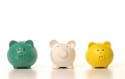 Money and piggy bank Royalty Free Stock Images