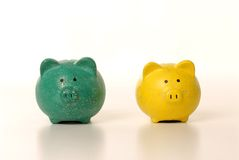 Money and piggy bank Royalty Free Stock Photography