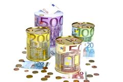 Money piggy banks Royalty Free Stock Image
