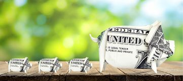 4 Money Pigs royalty free stock photography